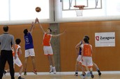 Playing a tournament in Zaragoza (City of Spain)