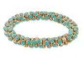 Vintage Twist Turquoise Bracelet