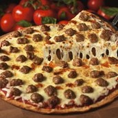 Here is our classic sausage pizza.