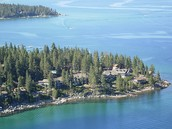 Aerial view of Zephyr Point
