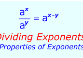 Dividing exponents law