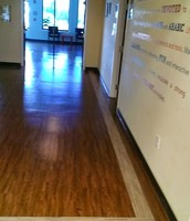 Janitorial Serives include Floor Finish with shine and Window Washing.