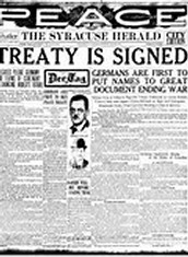 World War 1: The Treaty of Versaille
