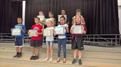 Fifth Six Weeks 3rd-5th Grade Honor Roll Awards Assembly on April 29, 2016