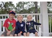 The chocolate milk trio...Jacob, Liam and Mason