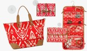 Hang On Travel Case-Red ikat $18 (pictured far right)