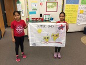 These special girls made our class flag!