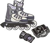 Roller-blading in Gym!