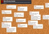 Padlet Word of the Day