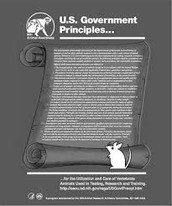 US government principles for the Utilization and care of animals