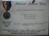 science fair medal
