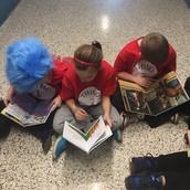 3rd Graders Enjoying A Book!