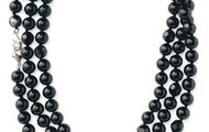 Jet Faceted Black Beads