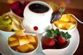 El cafe con frutas