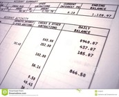 Bank statements!