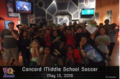 Soccer teams at laser quest