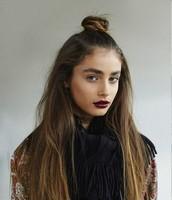Half up-half down hairstyle