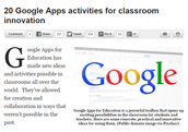 20 Google Apps Activities for Classroom Innovation