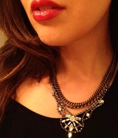 Rhinestone + Bold Chain Drama Necklace now $29