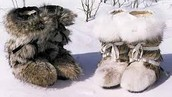Wolf fur mukluks