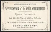 Ratification of the 15th Amendment