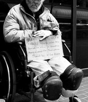 A man that is disabled in homeless