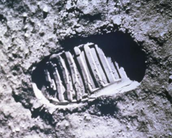 The first Footprint on the Moon