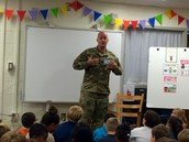 Lieutenant Colonel Bischoff Speaks to Fifth Graders