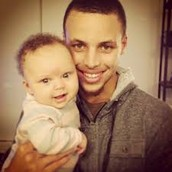 Stephen Curry and his beautiful daughter Riley