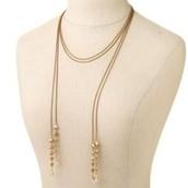Brynn lariat necklace (gold) $30
