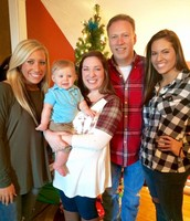 My sisters, nephew and my dad!
