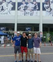 Bradley, Alfonso, myself, and Sam at the NC Dinos stadium
