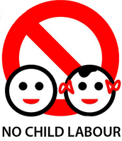 100% tegen kinderarbeid.