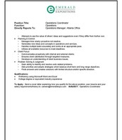 Operations Coordinator Position pg. 2