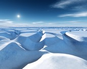 Snow Drift in the North Pole