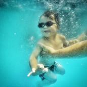 Jude loves swimming!