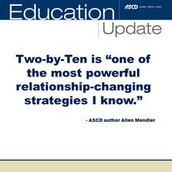 The Two by Ten Strategy for Dealing with Difficult Students