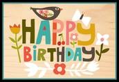 Birthdays over the break: