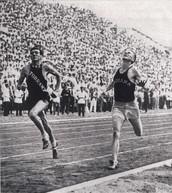 Zamperini ran the 5000 meter run in 1936 Berlin Olympics.