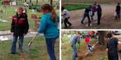 Cleaning at Cemetery