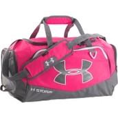 A pink sports bag