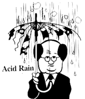 acid destroying the umbrella