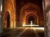 Adentro a Taj Mahal