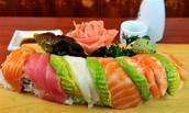 Rainbow Maki, $10.00