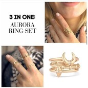 3 Piece Aurora Ring Set
