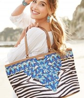 Jewelled Zebra Capri Tote £85