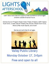 Library Event - Oct 17 - Lights on Afterschool