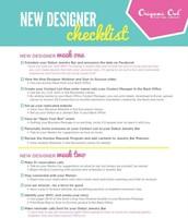 Designer Checklist