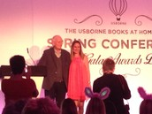 Receiving my certificate from Peter Usborne