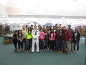 Navy Petty Officer Aguilar Speaks to SHS Students